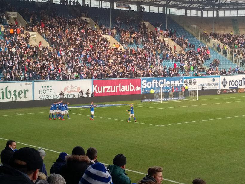 24. Spieltag, 10.02.2018 FC Hansa Rostock - Würzburger Kickers 3:1 (2:0)