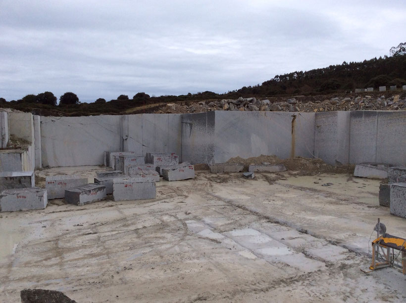 TINA grey limestone quarry in Spain.