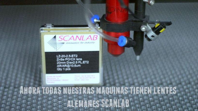 lentes y espejos para corte y grabado scanlab