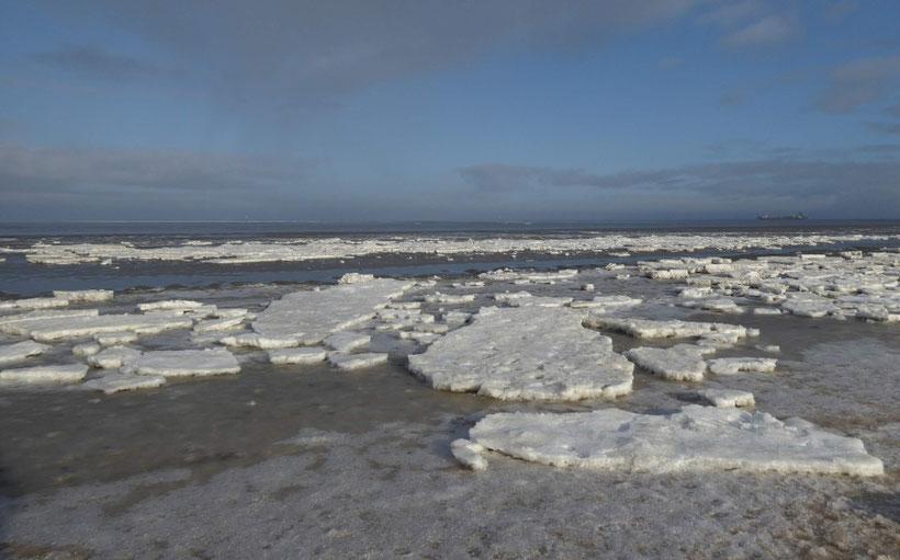 Meer, Nordsee, Eisschollen, Winter, Naturschauspiel, Natur-Attraktion, UNESCO-Weltnaturerbe Wattenmeer,