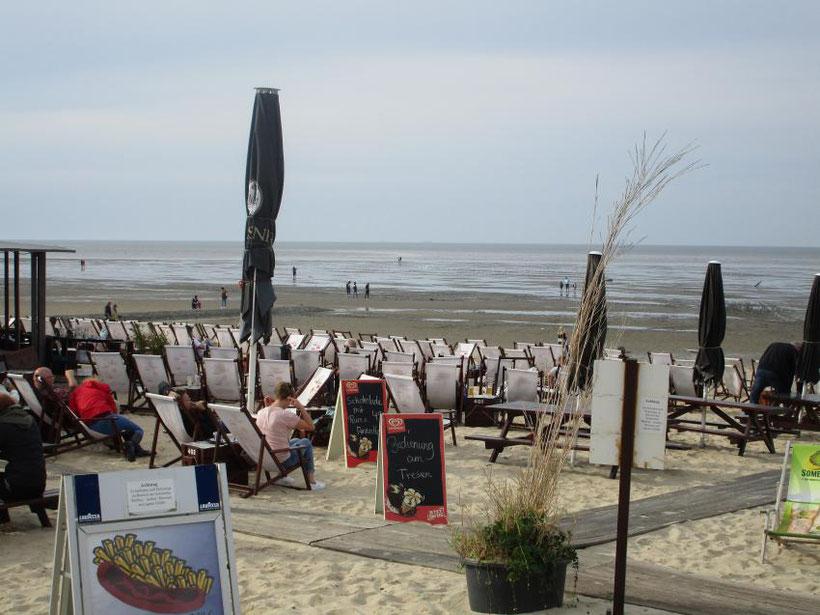 Strandbar, Cuxhaven, weite Blicke, Sand, Watt