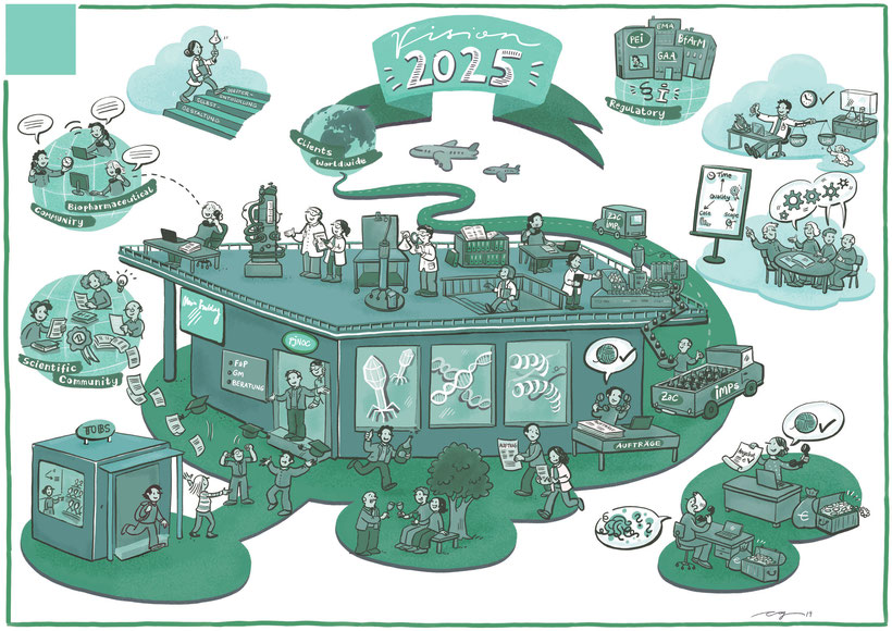 Business Illustration Zusammenarbeit Institut