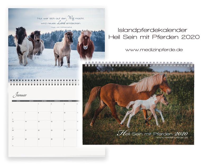 Pferdekalender 2020, Islandpferde Kalender, Geschenkidee, Weihnachten, Geschenke, Pferde, Kinder