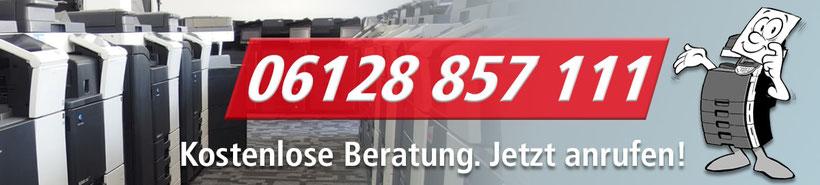 Kostenlose Beratung für Drucker, Kopierer und Scanner. JTB-Bürotechnik 06128 857111