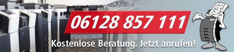 Kostenlose Fachberatung für gebrauchte Kopierer und Multifunktionsgeräte der JTB-Bürotechnik in Taunusstein.