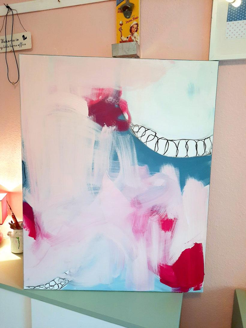 Abstrakte rosa Bilder
