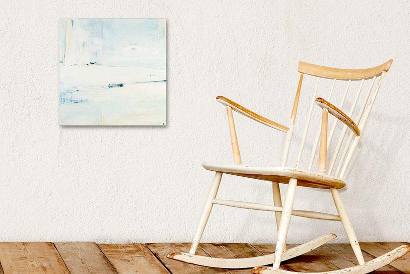 Der Traum vom Eislauf - 110 x 110 cm