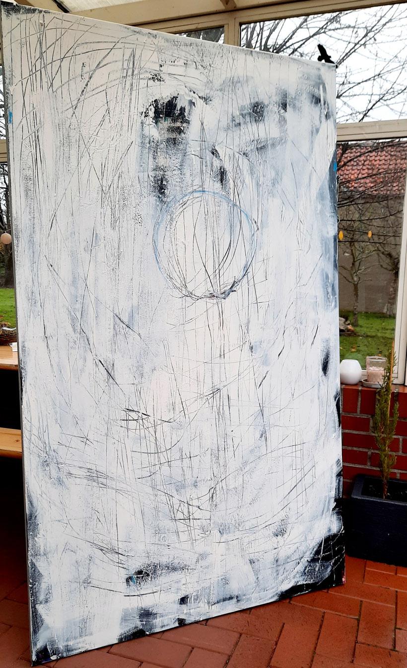 großes Gemälde - eycatcher - 190 x 115 cm