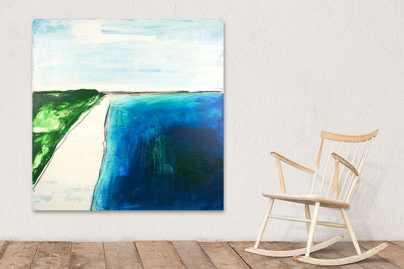 Gedankenschritte  - 110 x 110 cm