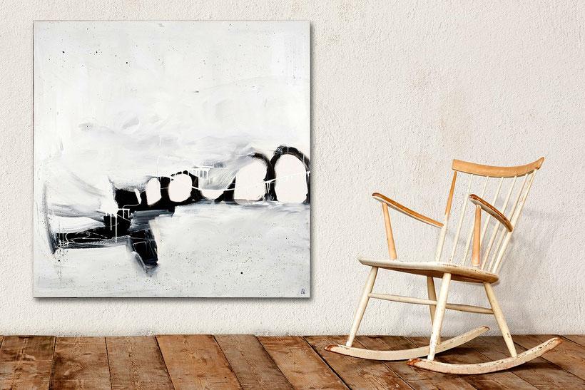 Vergangene Urlaubsflüge - 110 x 110 cm
