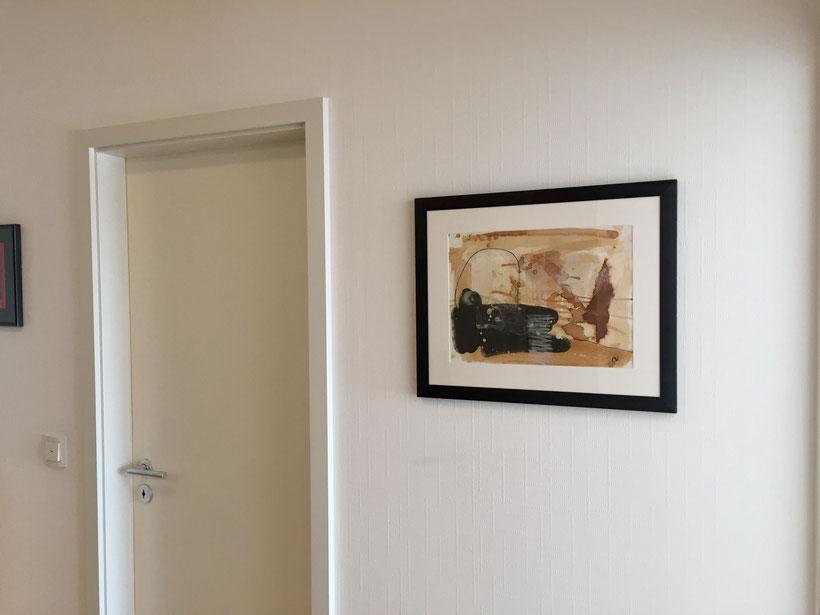 abstraktes Bild auf Malpappe gemalt