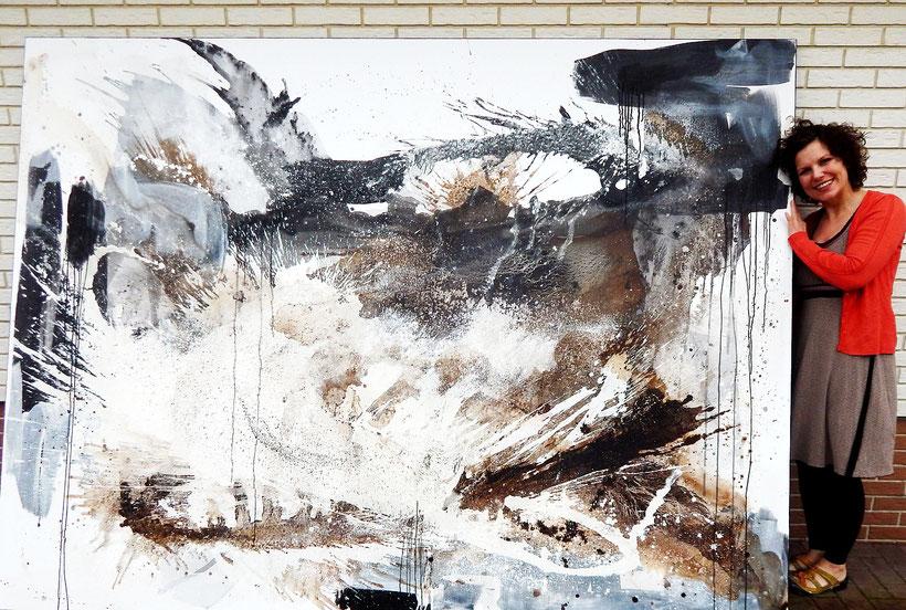 01.03.2019 - So ist nun das Bild vollendet - Lebenstraum 8 - 270 x 200 cm