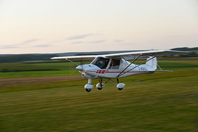 Unser Schulungsflugzeug Comco Ikarus C42b, Baujahr 2019