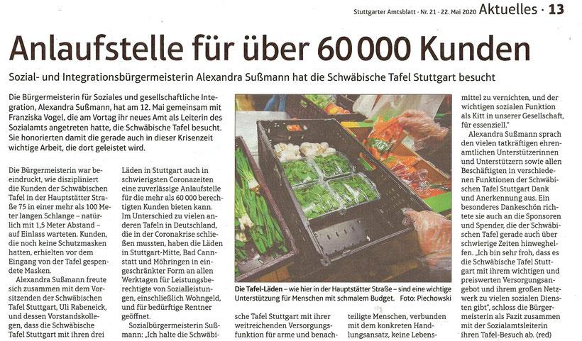 Stuttgarter Amtsblatt Nr. 21-22. Mai 2020