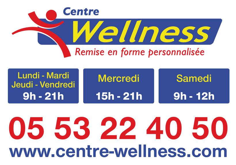 Centre Wellness à Bergerac (Creysse) horaires d'ouvertures 7 jours sur 7