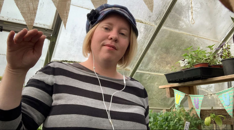 Just me singing in the greenhouse.