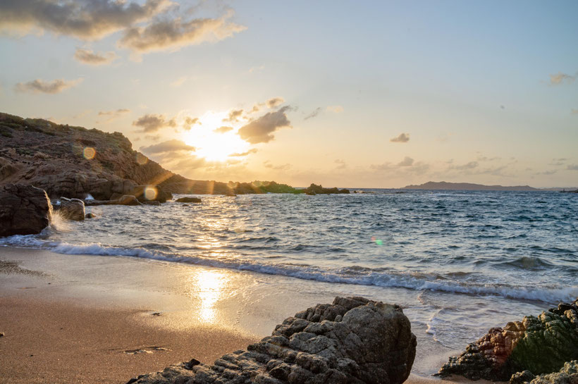 Sardinien Sonnenuntergang Strand La Maddalena Reisebericht Offroad Overland
