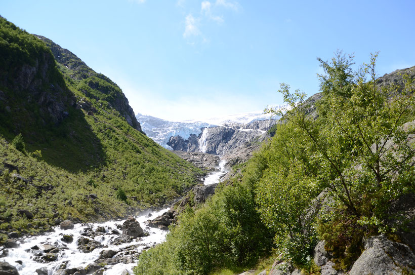 Gletscher Buarbreen in Norwegen