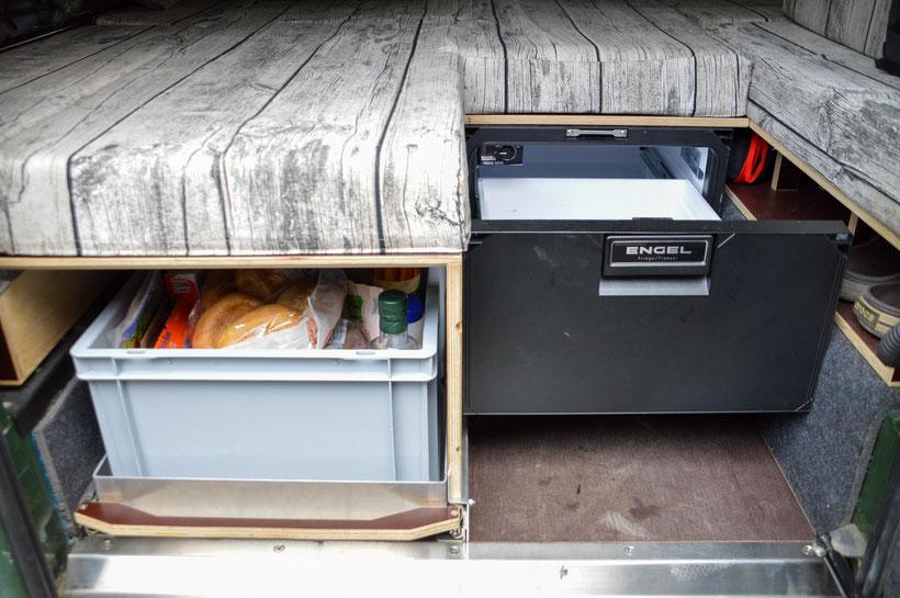 Defender Innenausbau Kühlbox Liegefläche selber bauen