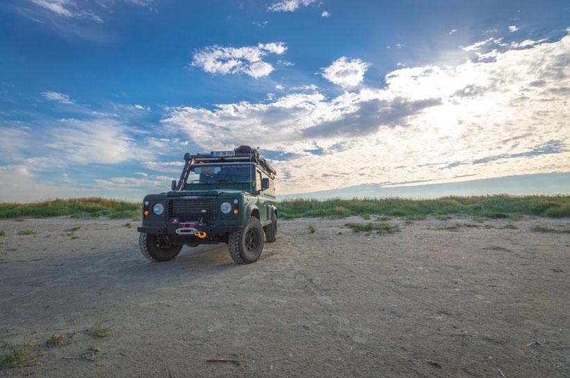 Dänemark Fanö Offroad Reise Reisebericht Land Rover Defender Overland