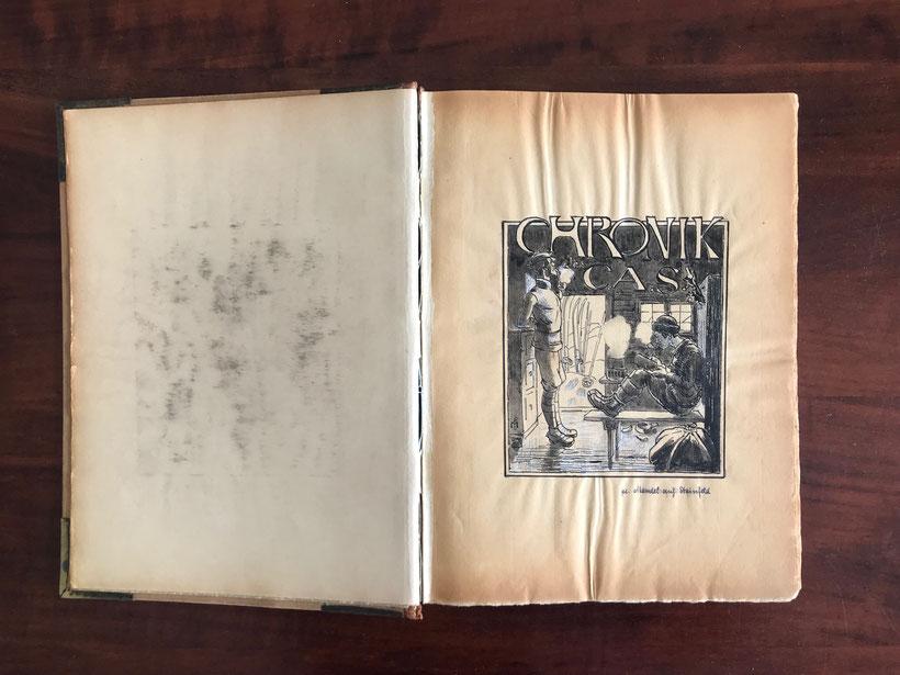 2. Umschlagseite der CAS-Chronik 1907