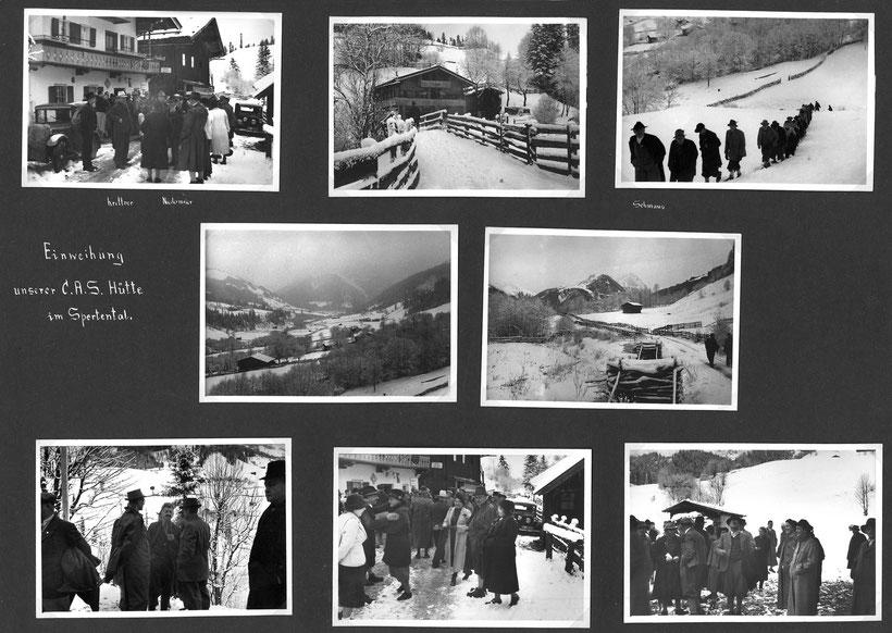 Einweihung der CAS-Hütte im Spertental / Aschau Tirol 1938
