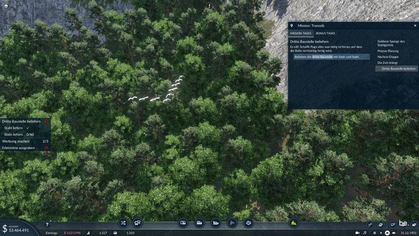 animierte Tiere ( Vögel, Fische, Bären, Füchse ) beleben die Landschaft