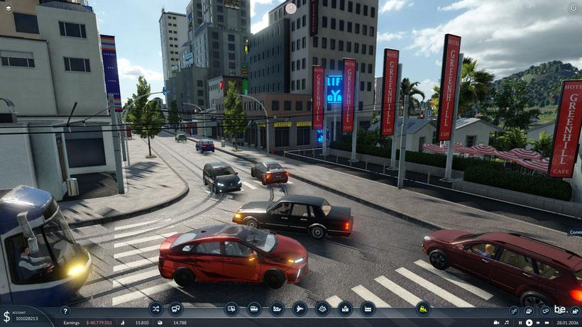 Fahrzeuge zeigen die Fahrtrichtung durch blinken an