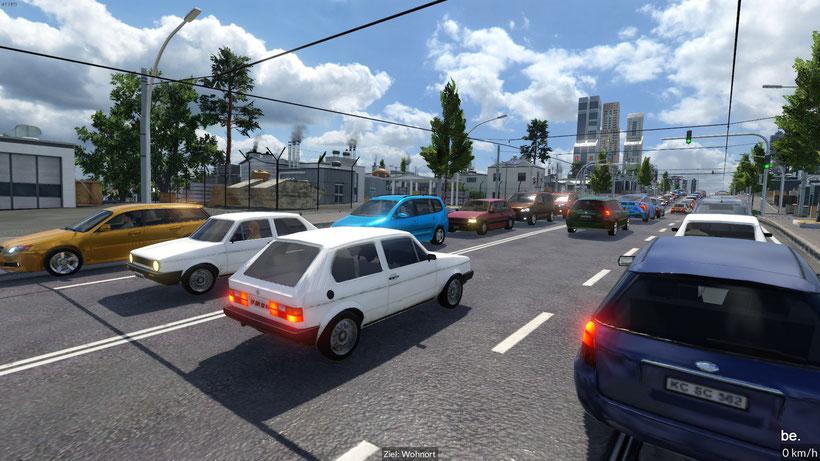 Ampeln steuern bei mehrspurigen Strassen den Verkehr