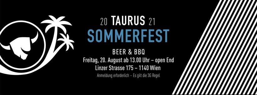 TAURUS Sommerfest 2021, 20. August 2021 ab 13:00, Bier und Grillen