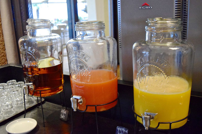 Park Hotel Brenscino in Brissago - Fresh Juices at Breakfast