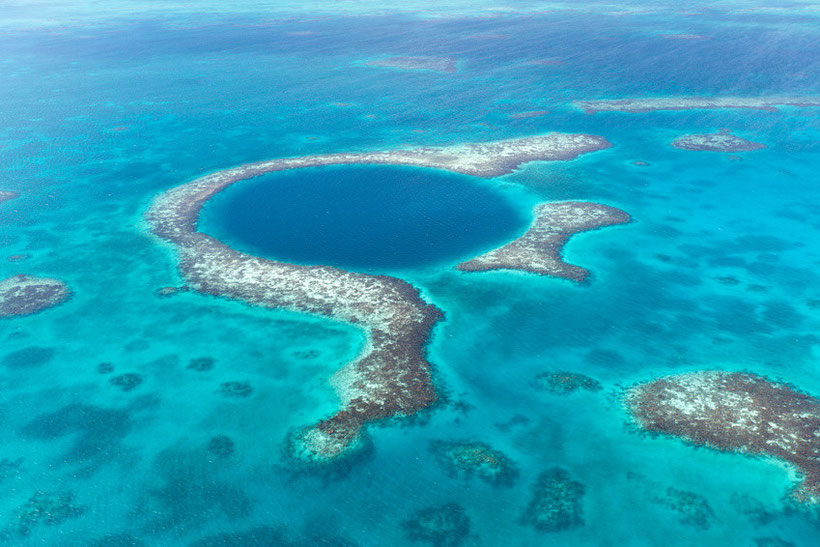 7 Unusual Scuba Diving Spots around the World - Great Blue Hole, Belize
