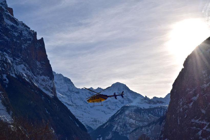 Cross-country Skiing in Lauterbrunnen, Switzerland