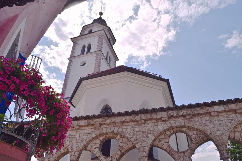 17 sehenswerte Orte in Kranj - Plecnik Treppenhaus und Arkaden
