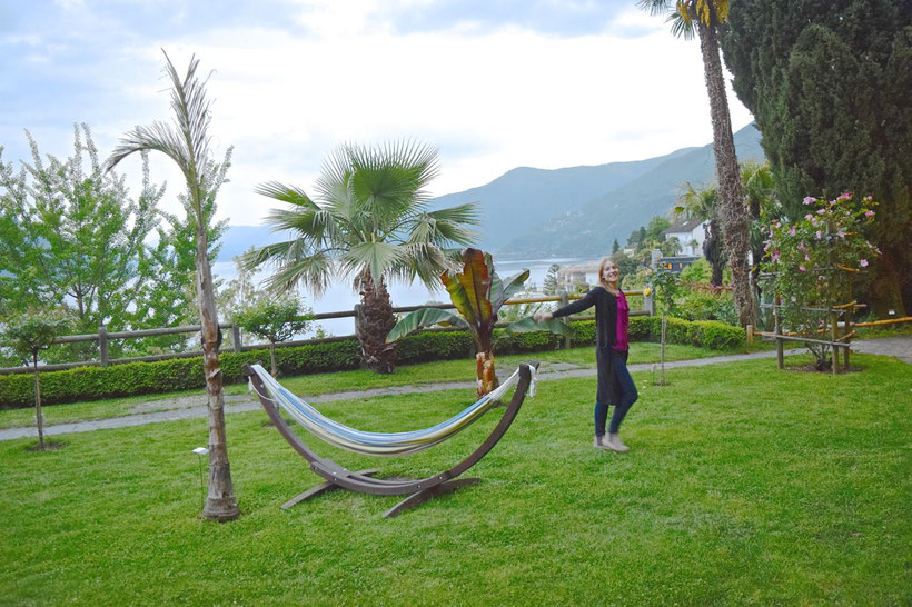 Park Hotel Brenscino in Brissago - Botanical Garden with Hammocks
