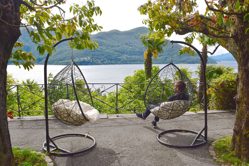Park Hotel Brenscino in Brissago - Lovely Terrace