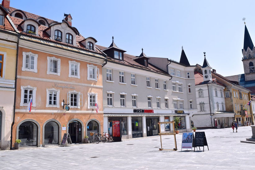 17 sehenswerte Orte in Kranj - Hauptplatz