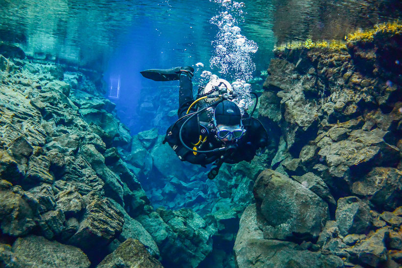 7 Unusual Scuba Diving Spots around the World - Silfra Lake, Iceland