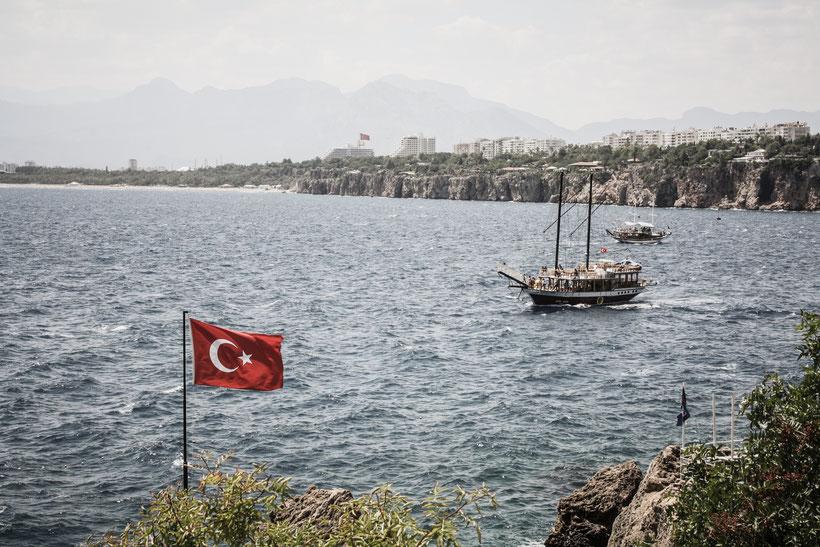 Blick auf das Mittelmeer in Antalya