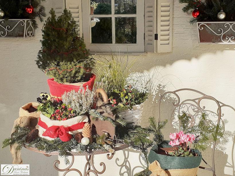 Weihnachtsdeko aussen selber machen. Winterdeko für die Terrasse und den Garten by Daninas-Kunst-Werkstatt.at