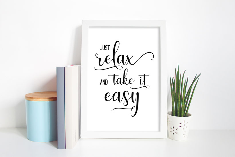 Kunstdruck Print Just relax Wohndeko