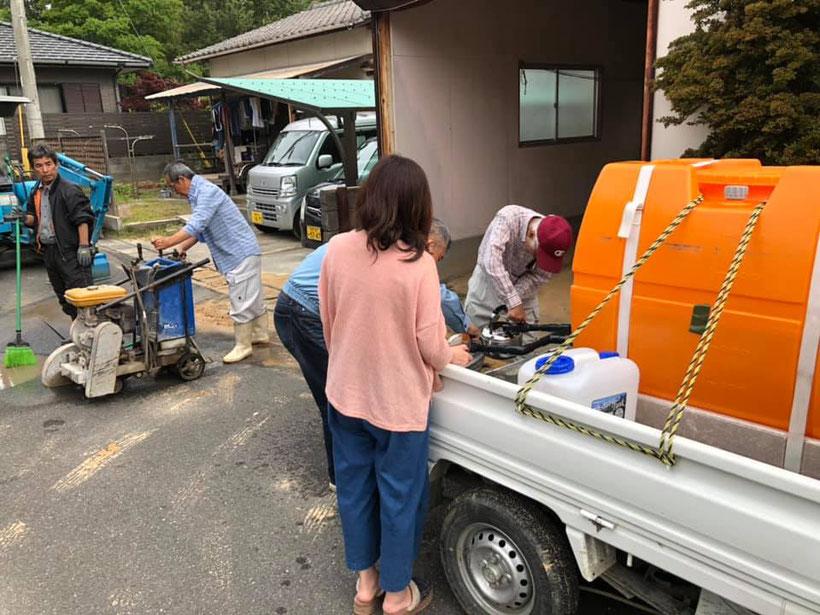 断水対応で給水タンクが役立っていました