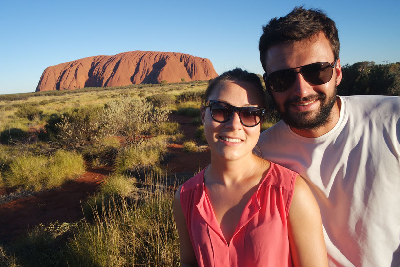 Us in front of Ayers Rock