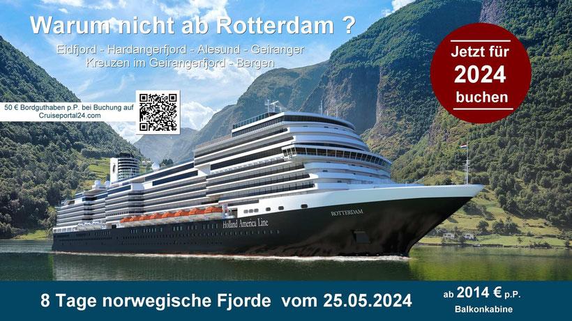 Kreuzfahrten ab Amsterdam HAL Special Extra Bordguthaben