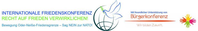 Internationale Friedenskonferent - Bewegung Oder-Neiße-Friedensgrenze