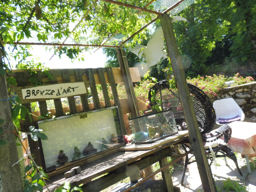 """a boutique de bronze d'art lors de """" l'Expo au jardin"""" de 2019"""