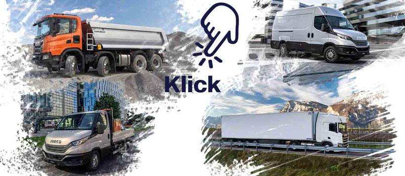 Neuwagen und Occasionen ab Lager Scania, Iveco und Fremdmarken
