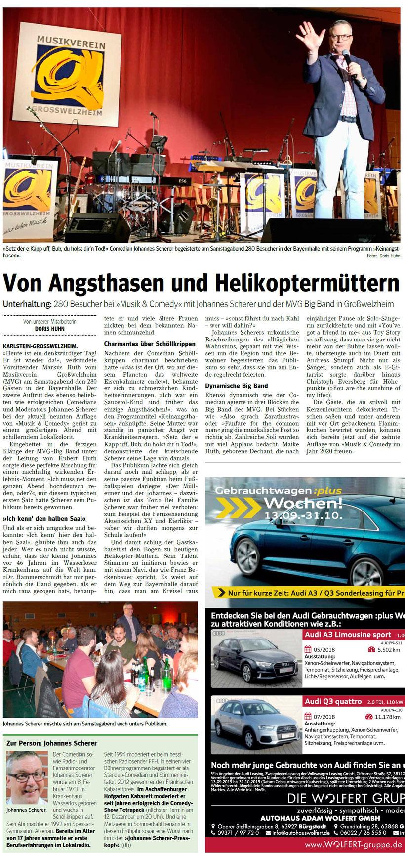 Musik & Comedy 2019, Main-Echo v. 21.10.2019