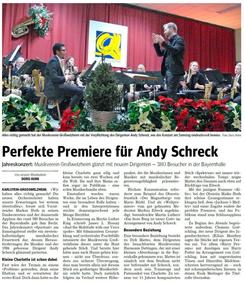 Jahreskonzert 2019, Main-Echo v. 02.12.2019
