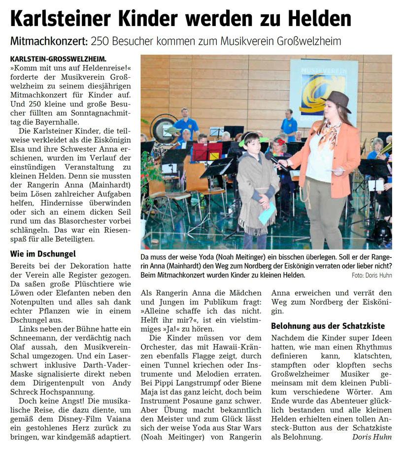 Konzert für Kinder 2020, Main-Echo v. 11.03.2020